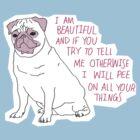 Sassy Pug by Elliot Parker