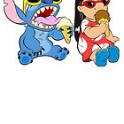 Lilo and Stitch eating ice cream by LilooCola