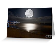 Moon Set Greeting Card