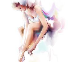 The woman dances, ballerina by Teni