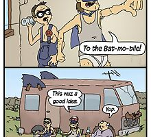 Hillbilly Batman saves the day. by Longburns