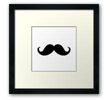 Mustache Ideology Framed Print