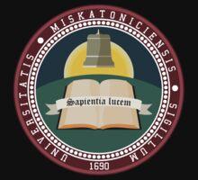 Miskatonic University seal T-shirt by PCB1981