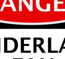 DANGER SUNDERLAND FAN, FOOTBALL FUNNY FAKE SAFETY SIGN Sticker