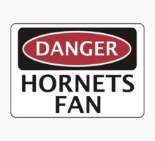 DANGER WATFORD HORNETS FAN, FUNNY FAKE SAFETY SIGN Kids Clothes