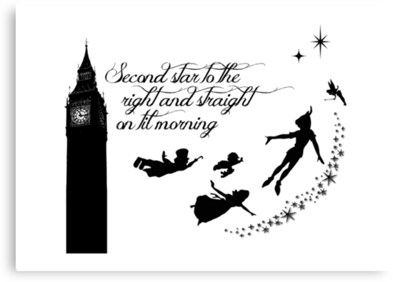 Peter Pan ~ Second star to the right by sweetsisters