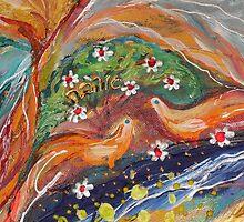 Original painting fragment 31 by Elena Kotliarker