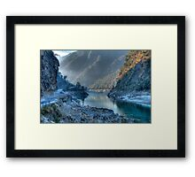 Devpryag At Misty Sunrise Framed Print