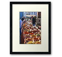 Spice seller Framed Print