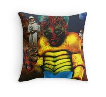 Green Slime Mutant Throw Pillow