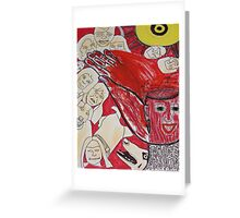 Memorrhage: Blood Burst From My Mind Greeting Card