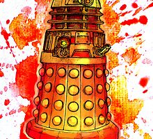Red Dalek by Splinterisart