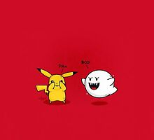 Pikachu and Boo by wes151