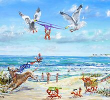 Beach Peril. by Joe Trodden