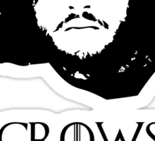 Crows Before Hoes - Game of Thrones Jon Snow. Sticker