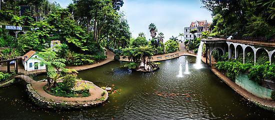 Panorama Central Lake Monte Palace Garden, Madeira (Portugal) by Zoltán Duray