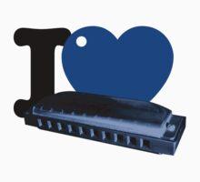 I Blue Heart Harmonica by BrBa