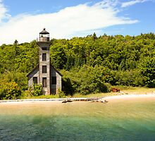 Grand Island East Channel Lighthouse by Melody Ricketts