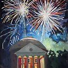 Fireworks Over The Rotunda by Robert Holewinski