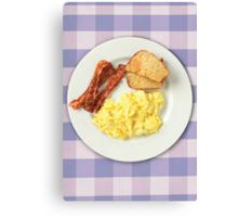 Ron Swanson's Breakfast Canvas Print