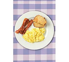 Ron Swanson's Breakfast Photographic Print