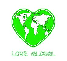 Love Global iPhone Case Green by Martin Rosenberger