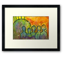 The Earth Brigade Framed Print