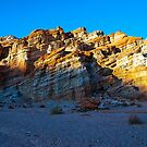 Sunset on the rocks in Red Rock Canyon State Park. by philw