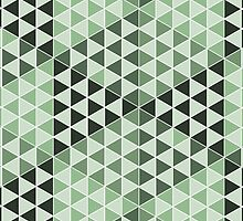 Geometric Cubes - Bold Green by Aeleina