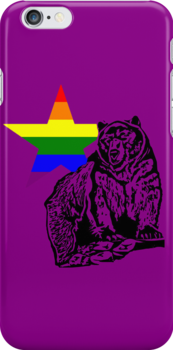 Kris Alan Apparel RAINBOW Grizzly Bear  by krisalanapparel