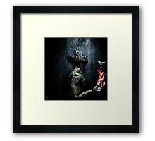 Dismantle The Dark We March On Framed Print