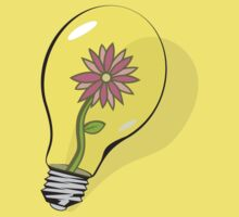 Flower in Lightbulb by Kevin Piazza