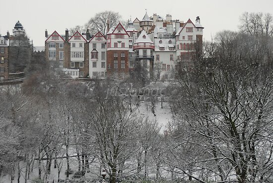 Ramsay Gardens in the Snow by justbmac