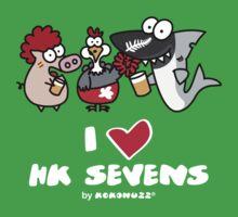 I love Hong Kong Sevens (Rugby, Party and Beer) Kids Clothes