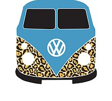 Leopard VW Camper Blue by splashgti