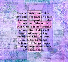 Love Is Patient Love Is Kind Bible Verse by marigoldwinters