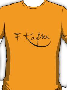 Franz Kafka Signature T-shirt T-Shirt