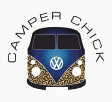VW Camper Chick Blue by splashgti