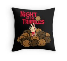 Night of the Tribbles Throw Pillow