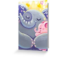 Hug - Rondy the Elphant and his Mom Greeting Card
