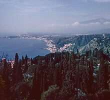 Giardina Naxos from Taormina 198403290014 by Fred Mitchell