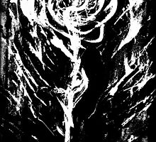 Black and White -  Raw Emotion in a Rose by J. Lovewell