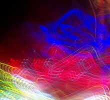 The Light Is The Art 10: Crop 01 (Light Painting, Ryleigh's Series B) by Keith Miller
