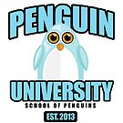 Penguin University - Blue by Adamzworld