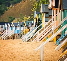 Wells-next-the-sea beach huts. by fulhamphil