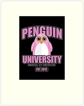 Penguin University - Pink 2 by Adamzworld