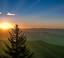 Clingman's Dome Sunrise by Alex Banakas
