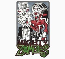 Mighty Zombies Brain Popping by Unpleasantdream