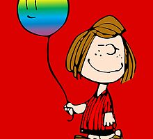 Peppermint Patty - Rainbow Balloon by wcsmack