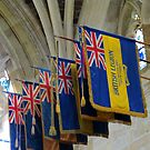 Colourful Flags, Exeter Cathedral, Devon by MidnightMelody